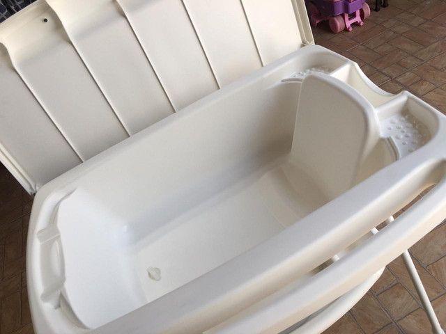 Banheira Splash Peixinhos Rosa - Burigotto com assento - Foto 5