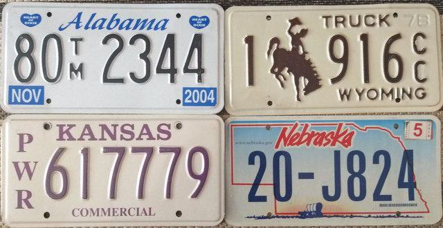 Placas de carro originais Estados Unidos USA - Foto 3