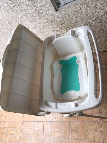 Banheira Splash Peixinhos Rosa - Burigotto com assento - Foto 3