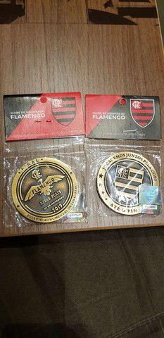 Moeda medalha Flamengo Final Libertadores