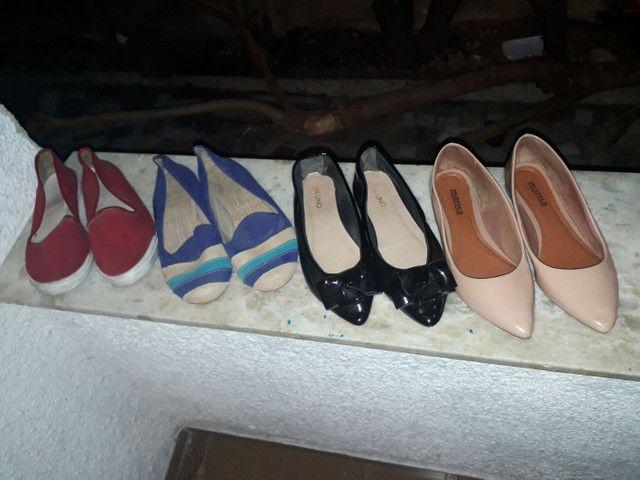 12 pares de sandalias lindas
