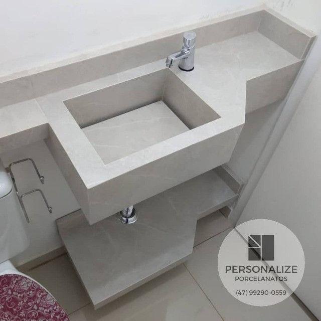 Cubas Esculpidas em Porcelanato Sob Medida