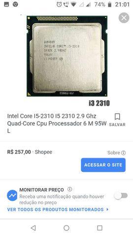 i5-2310 e memória RAM ddr3 4gb - Foto 2