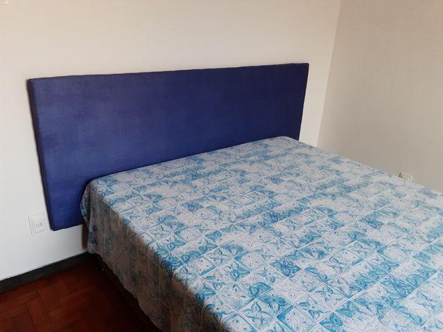 Cabeceira de cama em mdf 18mm estofada em espuma e tecido suede. R$80,00 - Foto 2