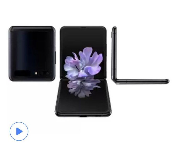 Smartphone Galaxy Z Flip 256GB Preto4G-Octa-Core 8GB RAM 6,7Câm.Dupla+Selfie10MP<br><br>