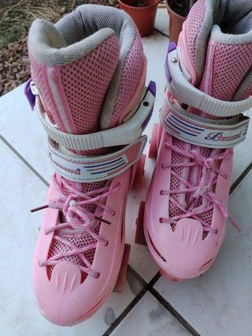 Patins infantil cor de rosa