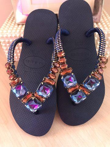 Sandálias customizadas  - Foto 5
