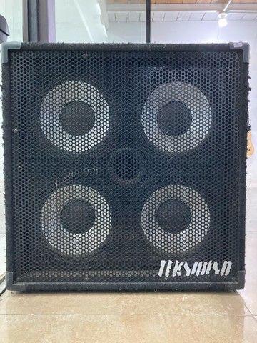 Caixa passiva 4 falantes de 10 para cabeçote de baixo teksound