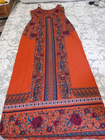Vestido estampado longo - Foto 4