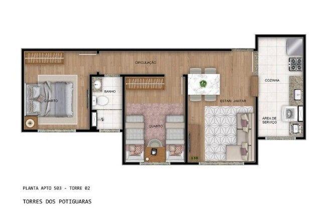 Torres dos Potiguaras- 50m² com opção de varanda! - Foto 2