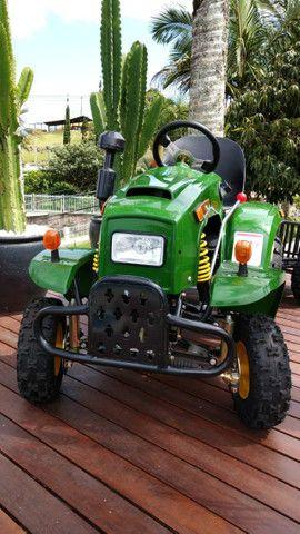 Mini Trator à Gasolina 110cc - Novo - Foto 5
