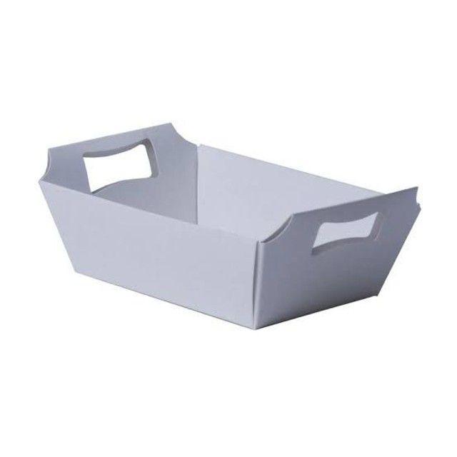 Cesta de papel branca (10 unidades) - Foto 2