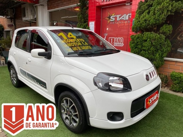 FIAT UNO SPORTING 1.4  2014 36mil km STAR VEICULOS