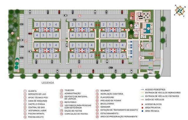 Apartamento em Cidade Satélite - 2/4 - 48m² - Nova Amsterdã - Documentação Grátis - Foto 15