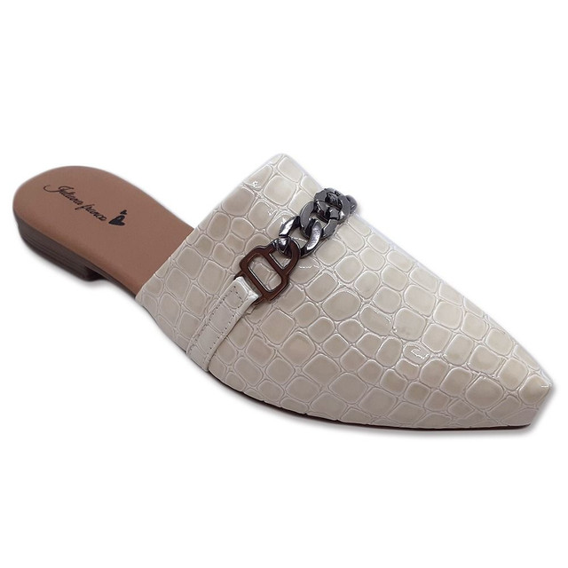Mule Feminino Sapato Sapatilha Sandália  Confortável Casual  - Foto 5