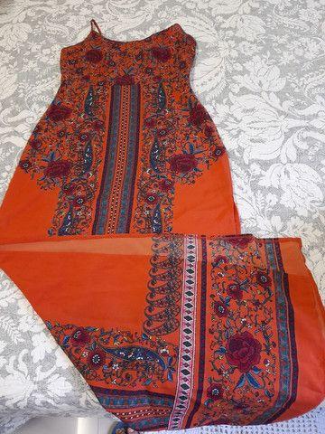 Vestido estampado longo - Foto 3