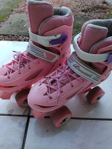 Patins infantil cor de rosa - Foto 2