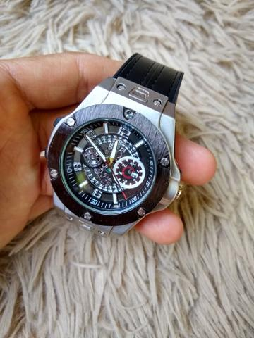 Relógio hublot pulseira couro - Foto 2