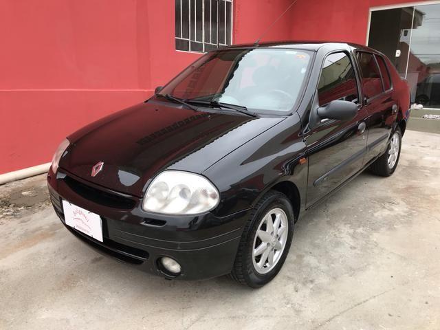 Clio sedan 2003 1.6 RT completo - Foto 7