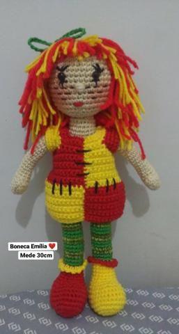 Boneca Emília - Parte 2 #BonekdeCrochê - YouTube | 480x257