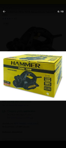 Plaina elétrica Hammer