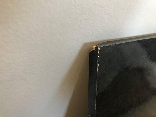 Tampo para balcão/ gabinete em MDF (fórmica imitação de granito preto) - Foto 3