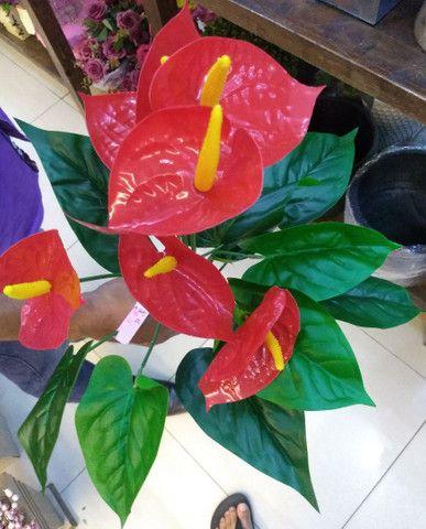 Antúrio Planta Grande Artificial Decorativa