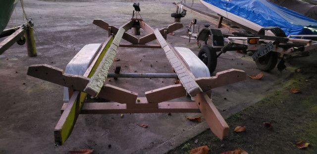 Lancha 19 pés  motor envirude etec 90hp com cerreta rodoviária  - Foto 14