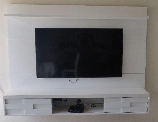 Vendo Painel de TV Branco R$350,00 - Foto 2