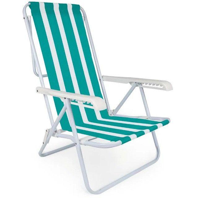 Cadeira Aço Reclinável 8 Posições Verde MOR