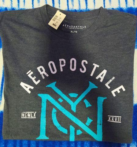 Camiseta Cinza Aeropostale Masculina Gg - Foto 2