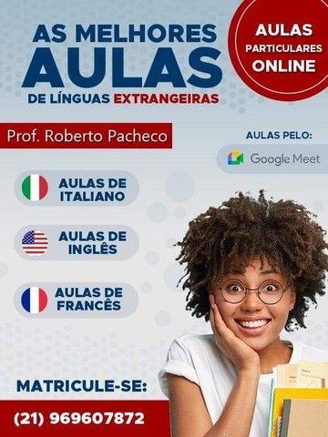 Aulas Particulares de Italiano, francês ou inglês.