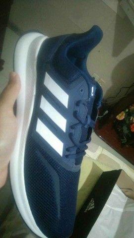 Tênis Adidas Falcon Masculino - Azul e Preto - Original - Foto 6