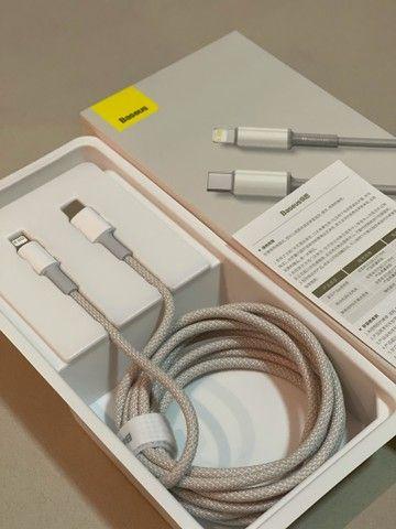 Cabo carregador / novo plug USB C- para entrada de novos IPhones ? Baseus - 2 metros - - Foto 3