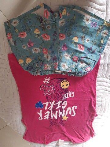 Conjuntos de shorts e blusas infantojuvenil  - Foto 5