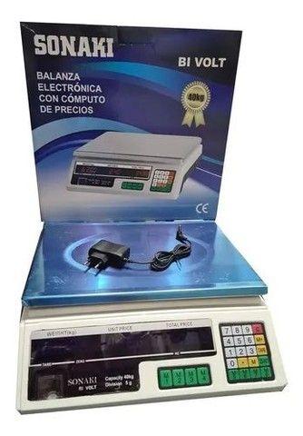 Balança Eletrônica Digital 40kg Recarregável Completa<br><br><br> - Foto 2