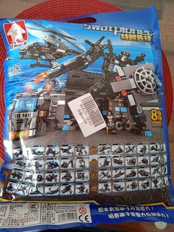 Lego Blocos de Montar Police Presente Swat Brinquedo  - Foto 3
