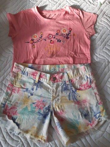 Conjuntos de shorts e blusas infantojuvenil  - Foto 6