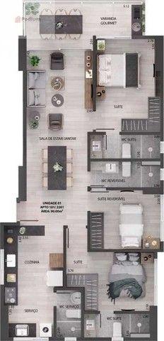 Apartamento à venda com 3 dormitórios em Miramar, João pessoa cod:39068 - Foto 3