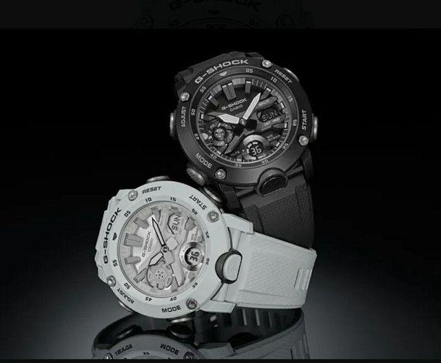Relógio G-Shock GA-2000S-7ADR Carbon Core Guard nas cores Preto ou Branco<br><br>