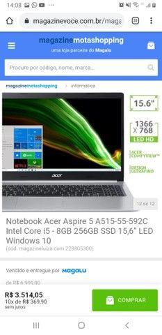 Notebook Acer Aspire 5 A515-55-592C Intel Core i5 - 8GB 256GB SSD 15,6? LED Windows 10<br>. - Foto 3