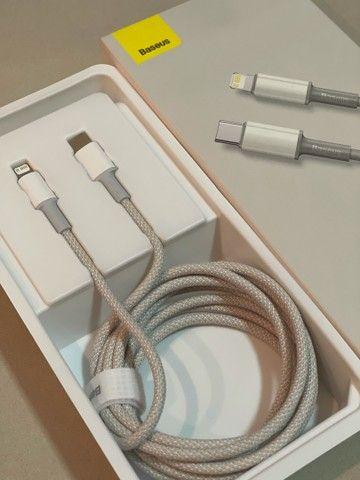 Cabo carregador / novo plug USB C- para entrada de novos IPhones ? Baseus - 2 metros - - Foto 2