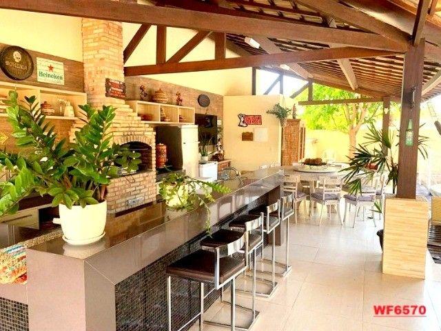 Vila Morrena, casa duplex com terreno duplo, 3 quartos, piscina, 6 vagas, Eusébio - Foto 7