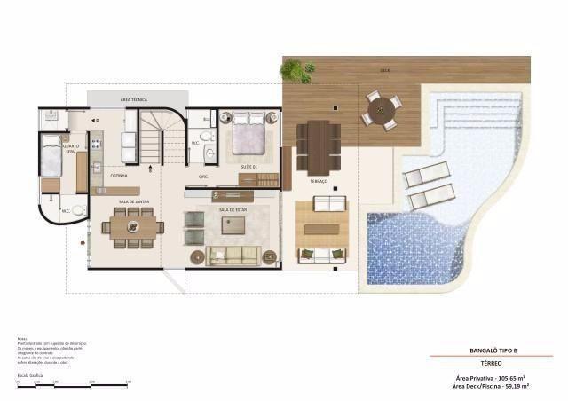 Casa bangalo, em Muro alto com 150m² luxo e qualidade de vida para você e sua família - Foto 2