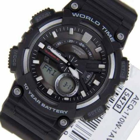 b347ba2c69b Relógio Casio Analógico E Digital Aeq110w-1av - Bijouterias ...