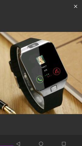 060d95e2e69 Relógio Bluetooth smart watch DZ9 Android câmera sd card chip ...