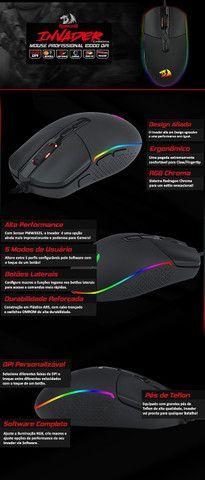 Mouse Gamer Redragon Invader 10000 DPI - Foto 3