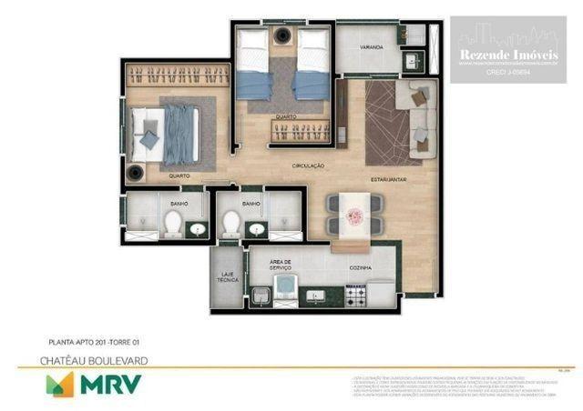 C-AP1645 Apartamento com 2 dorm à venda, 53 m² por R$ 297.900 - Bacacheri - Curitiba/PR - Foto 2