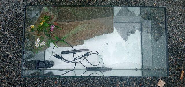 aquaterrario para tartaruga 89x40x40cm  - Foto 2