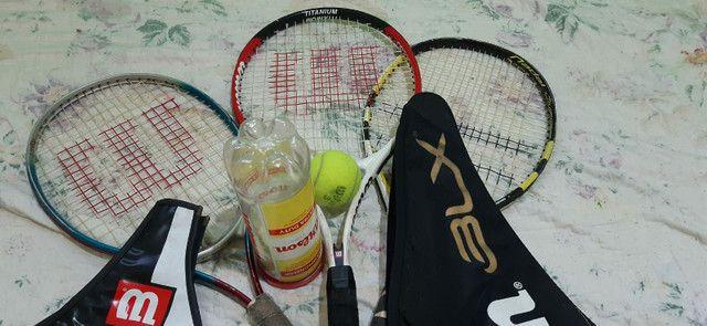 Três raquetes de tênis 350 reais  - Foto 5